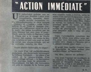 Ciné-Révélation n°144 texte action immédiate