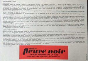 Détective n°1306 et 1308 texte pub Kaput