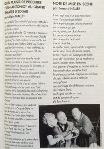 Grand Théâtre d'Edgar San-Antonio Texte Haller