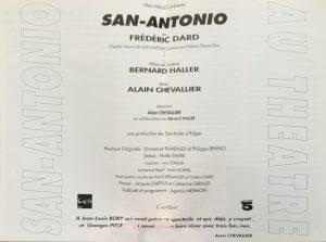 Grand Théâtre d'Edgar San-Antonio distribution