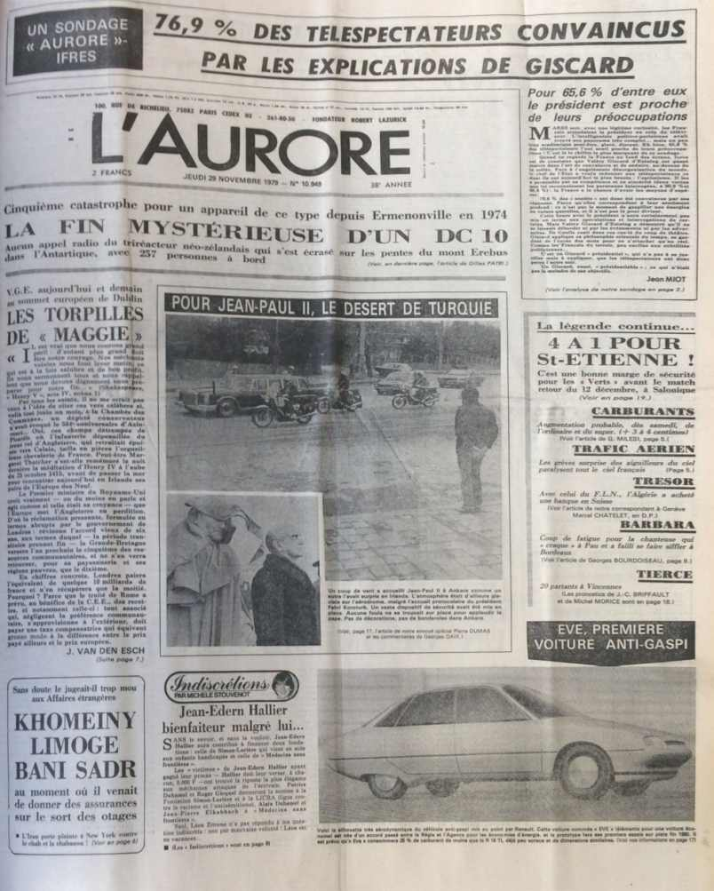 L'Aurore n°10949 29 novembre 1979