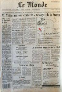 Le Monde 14 juillet 1989