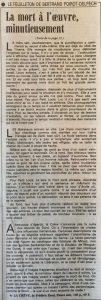 Le Monde 14 juillet 1989 La crève fin