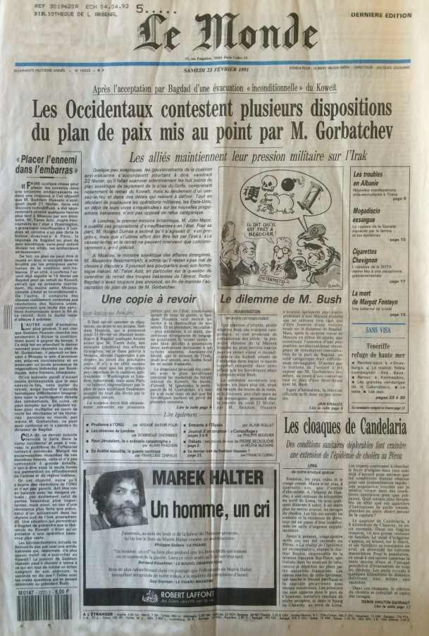 Le Monde 23 février 1991