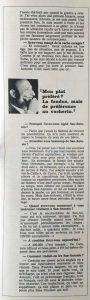 L'illustré n°46 49ème année13 novembre 1969 interview 3