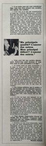 L'illustré n°46 49ème année13 novembre 1969 interview 4