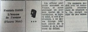 Mystère Magazine n°174 L'homme de l'avenue