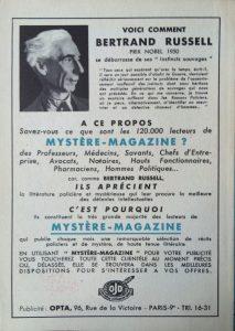 Mystère Magazine n°51 back