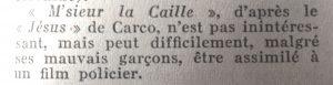 Mystère Magazine n°94 M'sieur La Caille