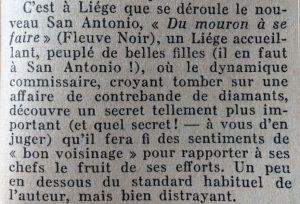 Mystère Magazine n°95 Du mouron à se faire