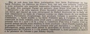 Mystère magazine n°48 montée régime fleuve noir