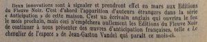 Mystère magazine n°49 fleuve noi début