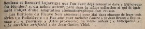 Mystère magazine n°51 fleuve noir fin
