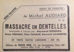 Mystère magazine n°51 pub fleuve noir