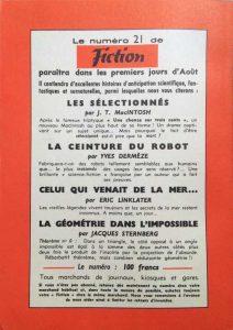 Mystère magazine n°91 back