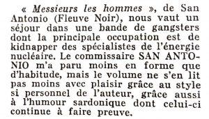 Mystère magazine n°91 messieurs les hommes