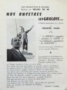Programme La Bruyère Nos ancêtres les Gaulois texte Dard