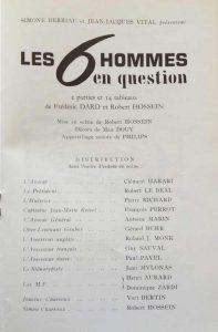 Théâtre Antoine Les 6 hommes en question distribution
