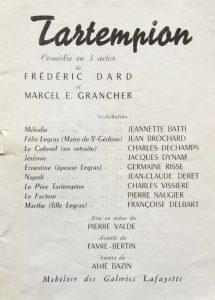 Théatre Fontaine Tartempion distribution