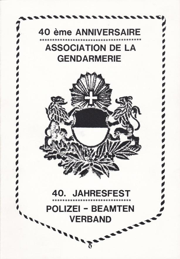 livret 40ème anniversaire-gendarmerie-fribourgeoise