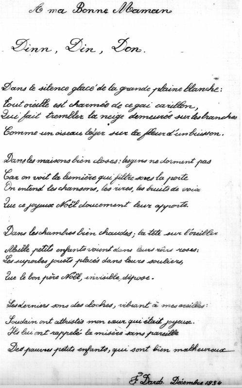 Poème Dard 1934