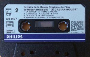 Cassette audio Le caviar rouge Piste 2