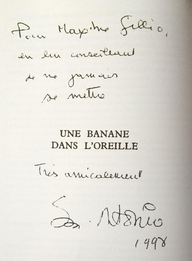 dedicace-une-banane-dans-loreille-maxime-gillio