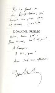 dédicace Dutourd Domaine Public