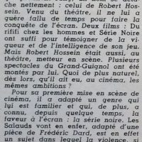 Festival n°330 article Robert Hossein - 1