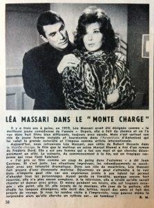 Festival n°676 Léa Massari dans le Monte-Charge
