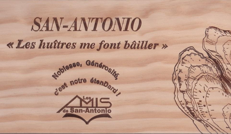 Les huitres me font bailler gravure sur bois AG 2016