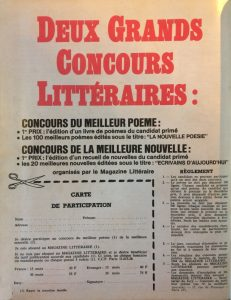 Magazine littéraire n°13 back