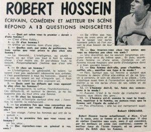 Nous deux film n°40 texte Robert Hossein