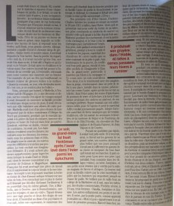 Paris Match n°2665 page entière de texte 1