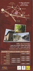 Plaquette 2015 Office tourisme Saint Chef back