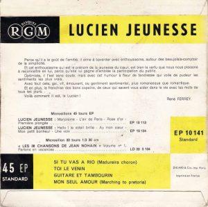 Toi le venin Lucien Jeunesse back