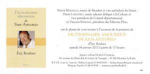 carton invitation Meudon dictionnaire amoureux