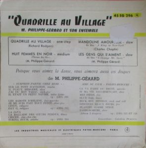 quadrille au village back