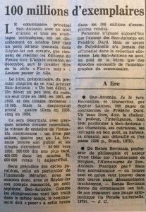 Le Monde 13 novembre 1981 100 millions d'exemplaires