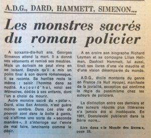Le Monde 13 novembre 1981 article 1