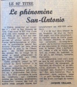 Le Monde 26 aout 1977 Le phénomène san-Antonio