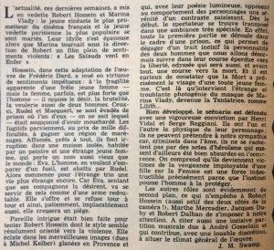 Ciné Revue 24 février 1956 texte