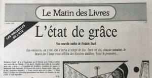 Le Matin n°58 L'état de grace titre et intro