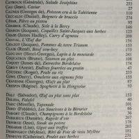 Les Lions à table index des noms 2