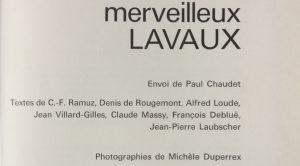 Merveilleux Lavaux eo achevé d'imprimer le 21 novembre 1972