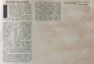 Radio cinéma n°299 M'sieur la Caille