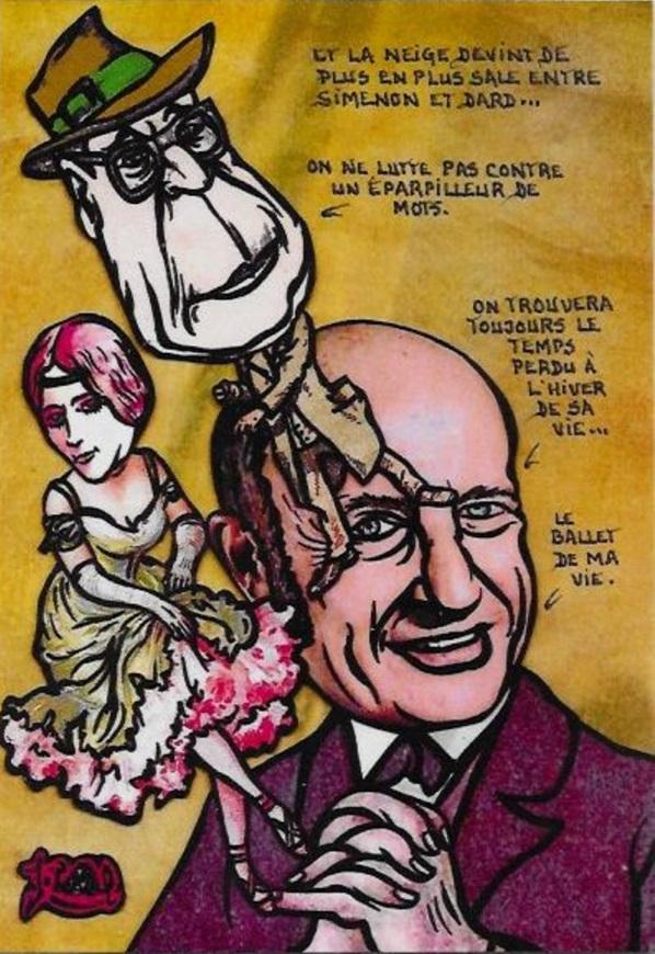 Frédéric Dard, Simenon et Cléo de Mérode