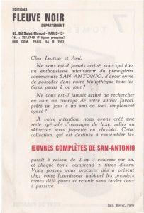 Oeuvres complètes tome 8 Publicité papier back