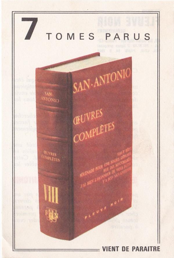 Oeuvres complètes tome 8 Publicité papier
