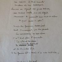 manuscrit les yeux de la femme